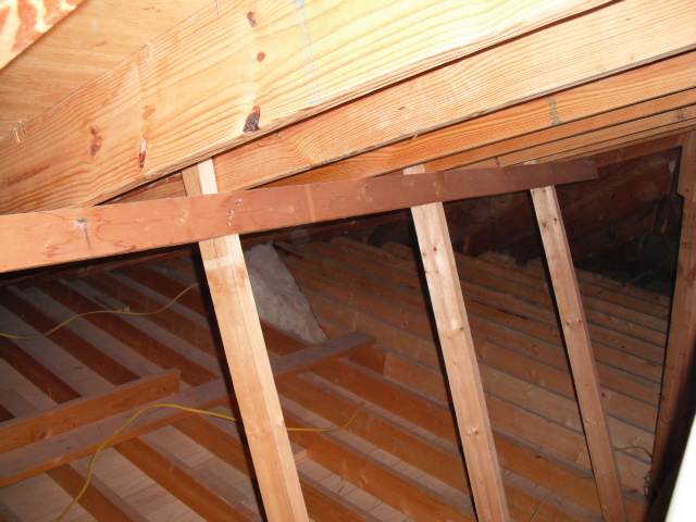 Support For Roof Rafters In The Attic